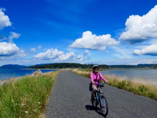 Biking To Fisherman's Bay