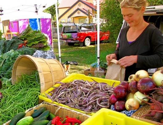 A Friendly Farmer At The Market