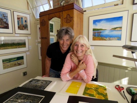 Michael And Ann In Her Studio