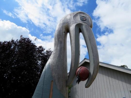 Raven Sculpture In Eastsound Village