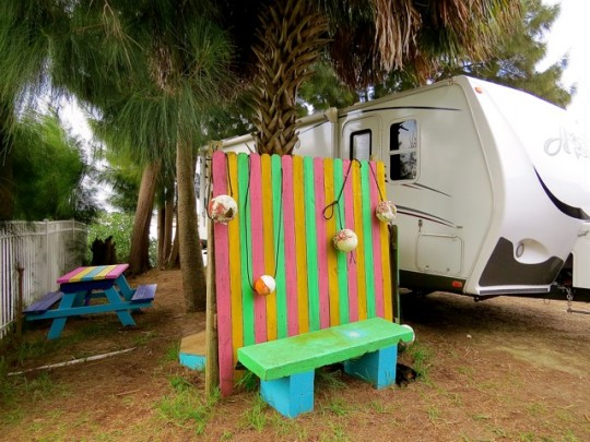 Quirky Cedar Key Campsite