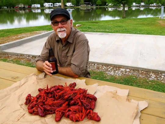 Crawfish Feast In Breaux Bridge, Louisiana