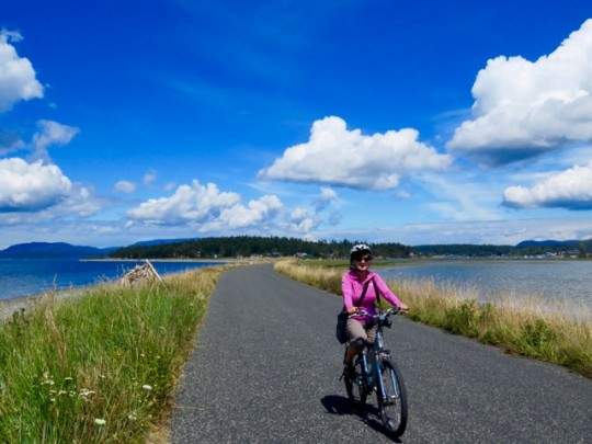 Biking On Lopez Island