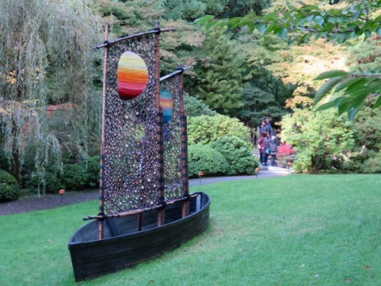Wonderful Bamboo Art Exhibit In The Garden