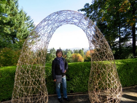 Bamboo Arch Overlooking Portland