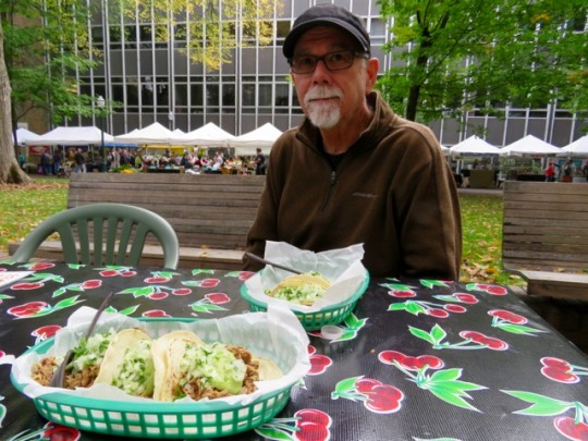 Local Pork Tacos At The Farmers Market