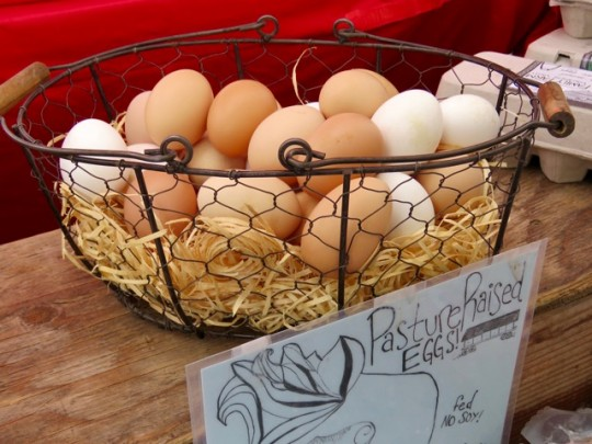 Pastured Eggs At The Market