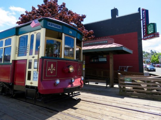 Vintage Trolley On The Waterfront