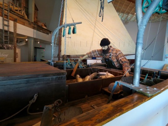 Full Size Fishing Vessels In The Museum