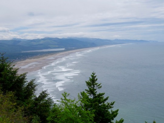 The Curving Coastline And Nehalem Bay