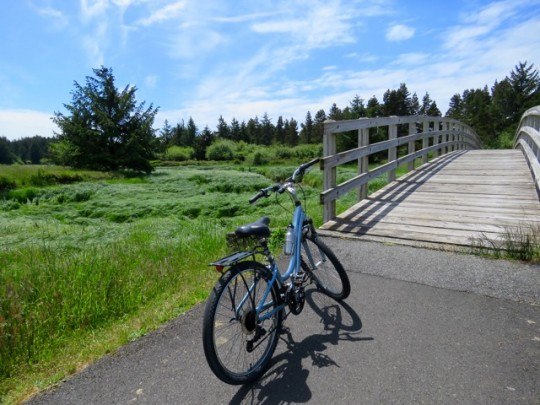 Biking The Trails At Fort Stevens