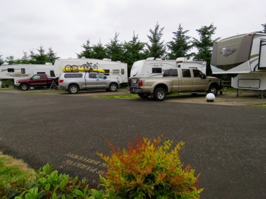 RV Spots Behind The Ashley Inn In Tillamook