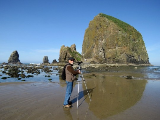 Searching For Puffins At Haystack Rock