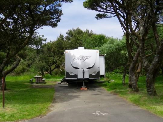 Campsite At Nehalem Bay State Park
