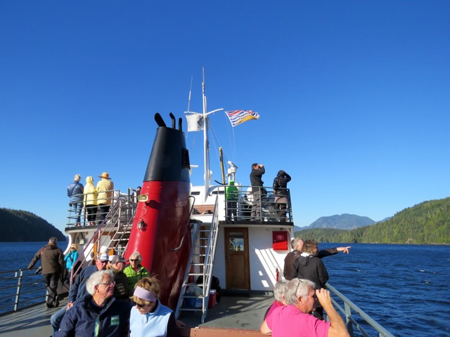 Cruising along the Alberni Inlet