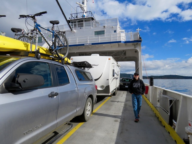 Tips for rving on vancouver island bc raven and chickadee on a small bc ferry to salt spring island from vancouver island anacortes wa sciox Choice Image
